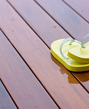 Glatte Holz Terrassendielen