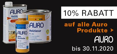 10% Rabatt auf alle AURO Produkte