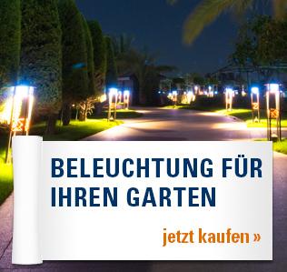 Beleuchtung für Ihren Garten