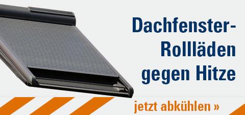 Dachfenster-Rollläden gegen Hitze