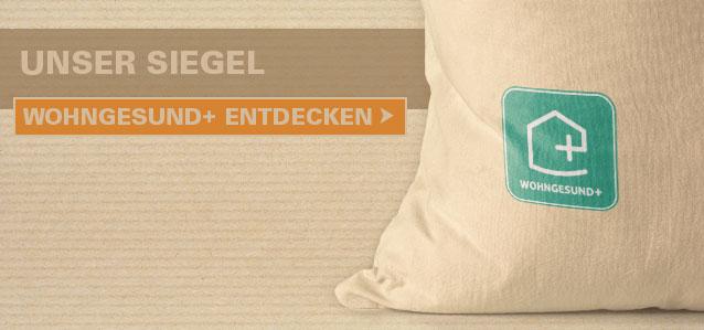 Unser Siegel: Wohngesund+