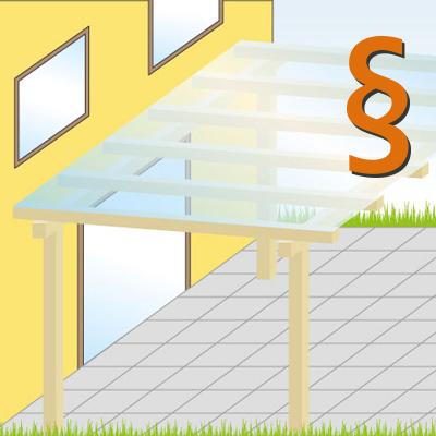 Terrassenüberdachung  –  Wichtige Informationen zur Baugenehmigung