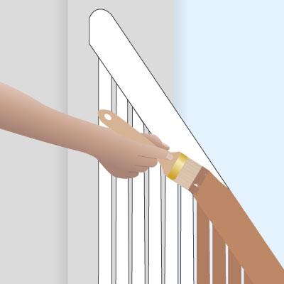 Treppengeländer streichen – in wenigen Schritten realisiert