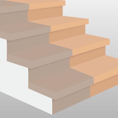 Treppenstufen verkleiden und einen neuen Look verpassen