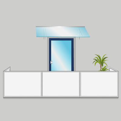Sehr Vordach für Balkon montieren TH87
