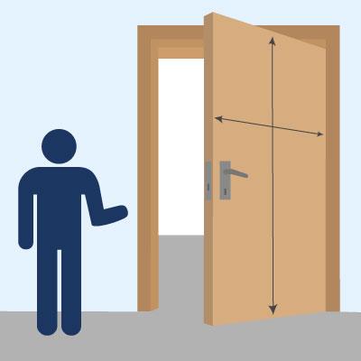 Welche Maße haben Zimmertüren?