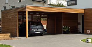 Ximax aluminium carport portoforte tandem bronze benz