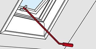 Bedienungsstange Dachfenster Zubehör