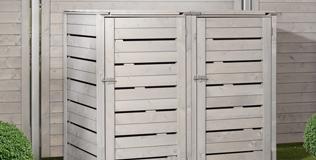 Holz Mülltonnenboxen