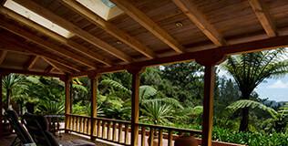 Holz Terrassenüberdachung