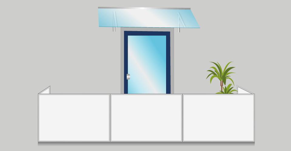 Vordach für Balkon montieren