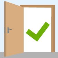 Favorit Welche Maße haben Zimmertüren? JE69
